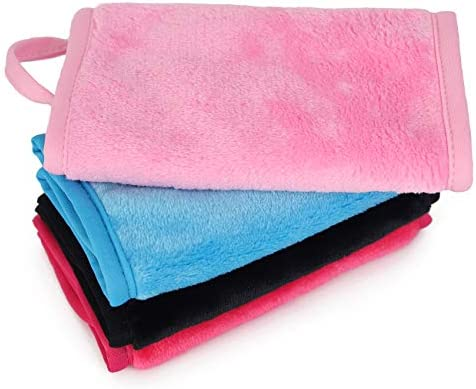 Prite Makeup Remover Cloth 4 Pack Reusable Microfiber Cleansing Towel with Lanyard Suitable product image