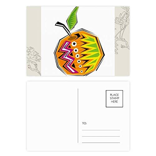 DIYthinker Geel Voedsel Mexicon Cultuur Element Illustratie Bloem Postkaart Set Thanks Card Mailing Zijkant 20 stks 5.7 inch x 3.8 inch Multi kleuren