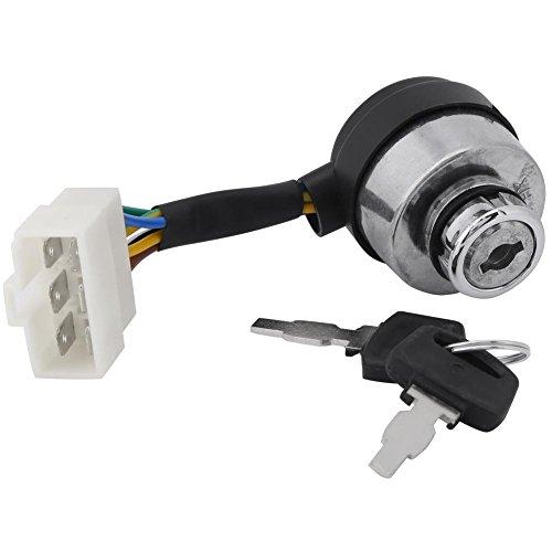 Zündschloss mit Schlüssel für 2,5–6,5kW Gas Generator 188F Starter, 6Draht Zündschloss Zylinder mit Schlüssel