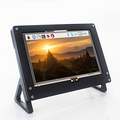 5 Zoll Raspberry Pi 4 Touchscreen,HD-Monitor mit Eingabestift,HDMI-Schnittstelle,LCD-Display mit Halterung,800 x 480 Auflösung,funktioniert als PC-Monitor, unterstützt Windows XP 10 8 7