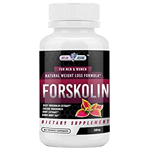 Forskolin Extract – 500mg Supplement – Diet Pills – 60 Veggie Capsules
