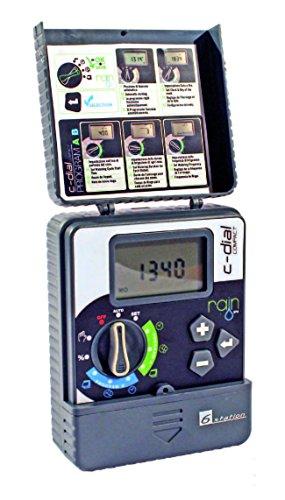 Rain - Programador Rain C-Dial 4 Estaciones Latch 9Vdc