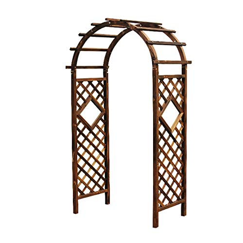 Garden Trellis Arch Wood, Garden Arbors and Arches, Trellis Sides for Climbing Plants, Wedding Arch Flowers, Durable Pine Wood Material