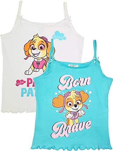 Paw Patrol Mädchen Unterhemden mit Spaghettiträger 2er Pack (122-128)
