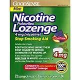 GoodSense Nicotine Polacrilex Lozenge 4mg 72ct *Compare to Nicorette...