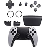 GOTRUTH Replacement Repair Kits for PS5, D-pad + Touchpad Share Options + R1 L1 Trigger + ABXY Bullet Button, Full Set Buttons for Playstation 5 DualSense Controller (Black)