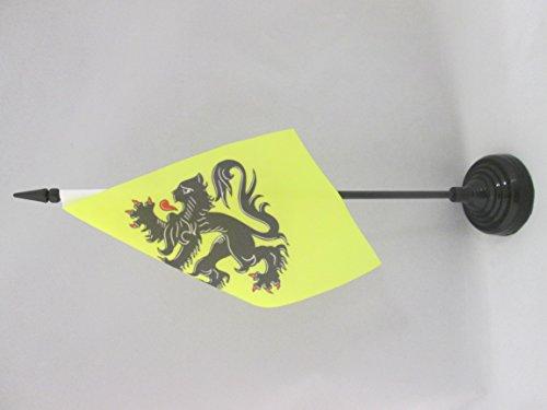 AZ FLAG Bandera de Mesa de Norte-Paso DE CALÉS 15x10cm - BANDERINA de DESPACHO DE Nord-Pas-DE-Calais - Francia 10 x 15 cm