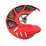 YHYPRESTER Cubierta Protectora del Protector del Protector del Disco del Disco del Freno Delantero de Las Motocicletas para Honda CRF250L CRF250M CRF 250L 250m 2012-2016 hnyhy (Color : Red)