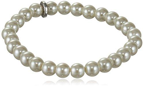 Pilgrim Damen-Armband Classic Versilbert Glas weiß Rundschliff 0.7 cm - 601536062