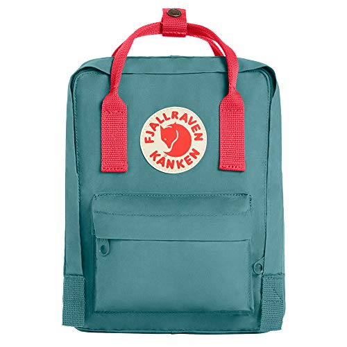 Fjallraven, Kanken Mini Classic Backpack for Everyday, Frost Green/Peach Pink