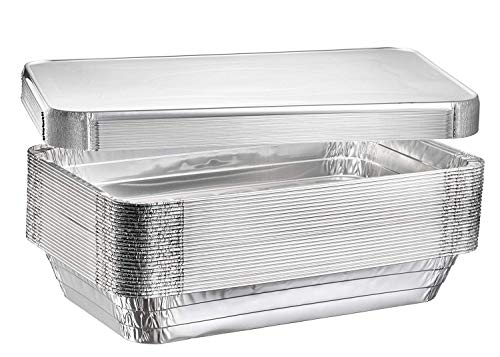 """(40 Count) Full Size Deep Steam Table Pans With Lids 