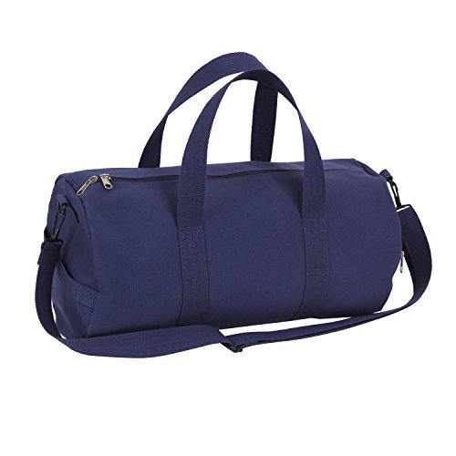 Rothco Canvas Shoulder Duffle Bag - 19 Inch (Navy Blue)