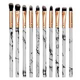 Brochas de Maquillaje Pinceles Set Sombra de Ojos Labios Polvo Fundación Cepillo Blanco