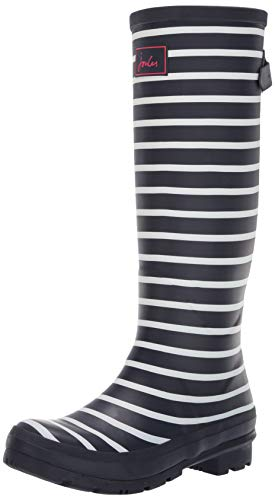 Joules Damen Wellyprint Gummistiefel, Blau (French Navy Stripes Fnavstp), 36 EU