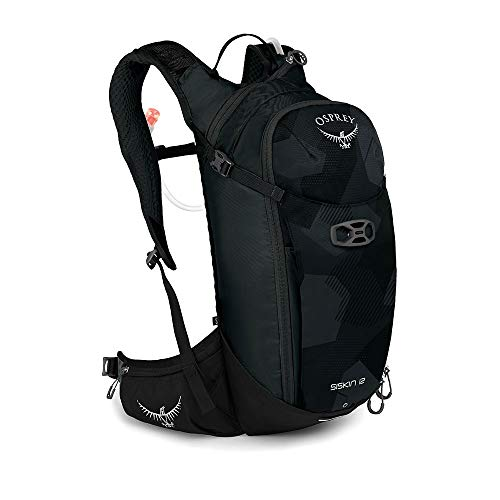 Osprey Siskin 12 Men's Bike Hydration Backpack, Obsidian Black