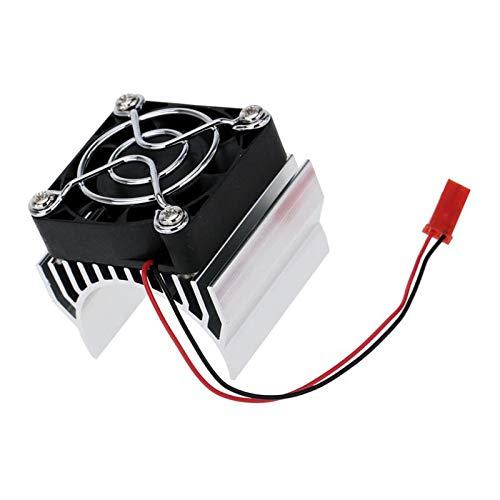 perfeclan Ventilador de Refrigeración del Disipador de Calor del Disipador de Calor para El Coche Eléctrico del Modelo del Motor de 1:10 380/390 del Coche