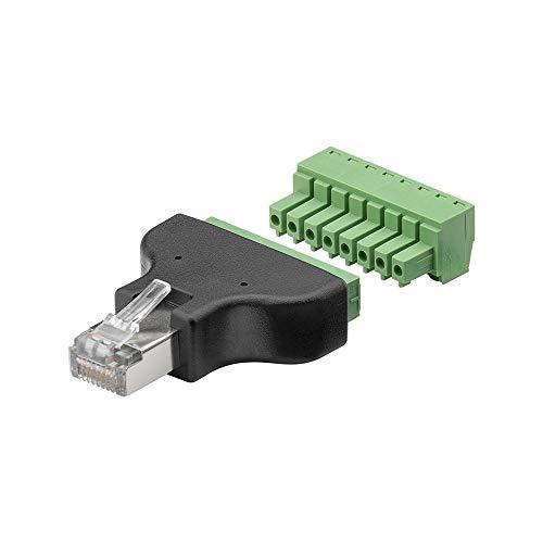 Goobay 76736 Terminal Block 8-pin > RJ45-Stecker (8P8C),