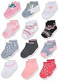 CHEROKEE girls Cherokee 12 Pack Shorty Casual Sock, Unicorn Hearts, 12-24 Months US