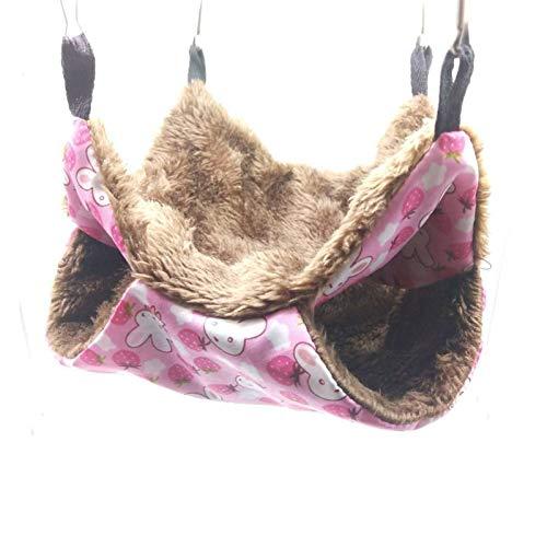 MQUPIN Doppelschichtige Haustier-Hängematte, warmes Hängebett für Frettchen, Eichhörnchen, Chinchillas, Hamster, andere kleine Tiere