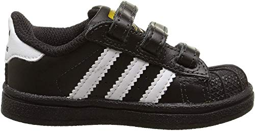 adidas Originals Superstar Foundation CF C B26071, Unisex-Kinder Low-Top Sneaker, Schwarz (Core Black/Ftwr White/Core Black), EU 34
