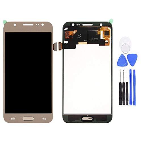 Kit Completo de reparación de Pantalla para Galaxy J5 2015 J500 J500FN, Kit de reparación Completo con Kit de reparación de Pantalla para reemplazar tu teléfono dañado, Agrietado y destrozado Dorado