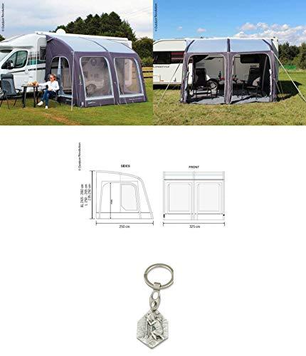 Zisa-Kombi 932988900083 Caravan - Carpa Hinchable (Apta para vehículos E-Sport Air 325 L, con Colgante) Cristóbal