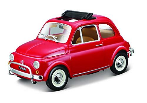 Bburago 15622099 - Bijoux Fiat 500 L (1968), scala 1:24, colori assortiti