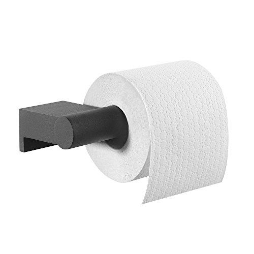 Tiger Bold Toilettenpapierhalter, Edelstahl, Schwarz-matt