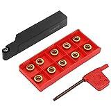 Utensile per tornio SRA616H10, 10 pezzi di inserto RPMT10T3MO + portautensile per tornio SRAPR1616H10 + 1 pezzo di chiave