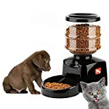 Arf Pets Automatic Pet Feeder Food Dispenser for Dogs, Cats & Small Animals – Features Distribution Alarms, Portion Control & Voice Recording – Timer Programmable Up to 4 Meals a Day