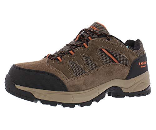 Hi-Tec Ridge Low Hiking Waterproof Shoes For Men, Brown, 10 M US