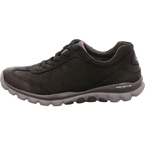 Gabor Shoes Damen Sport-Halbschuh Sneaker, Schwarz (Blurossograu) 47), 42.5 EU