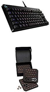 Logicool G PRO X ゲーミングキーボード テンキーレス G-PKB-002 ブラック クリッキースイッチ 日本語配列 RGB 着脱式ケーブル 国内正規品 2年間メーカー保証 + タクタイルスイッチGX-TC