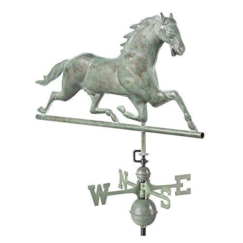 Ideal-580p Pferd Wetterfahne, poliertes Kupfer