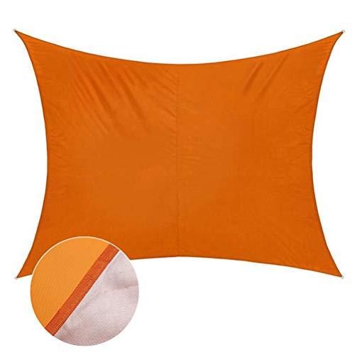 ENCOFT Sonnensegel Wasserdicht Rechteckig Sonnenschutz Block 95% UV Garten Balkon Schwimmbad Leichtgewicht Überdachung mit Seil Bodennagel Orange 3x3m