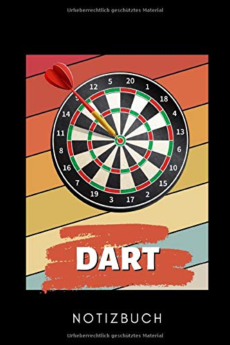 DART NOTIZBUCH: A5 WOCHENKALENDER Dart Geschenk | Dartbuch | Anfänger Profi | Darts Zubehör | Training | für Papa Mama Opa Oma | Sportler | Dartbuecher | Training
