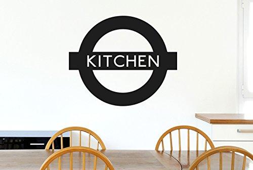 CUT IT OUT London Underground, Küche Schild Wand Sticker Kunst Aufkleber inspiriert–Medium (Höhe 48cm x Breite 57cm) schwarz
