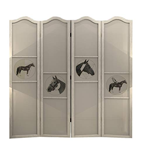 Amazing Deal Room Screen Even Wood Freestanding, Modern European Horse Decoration White High Screen,...