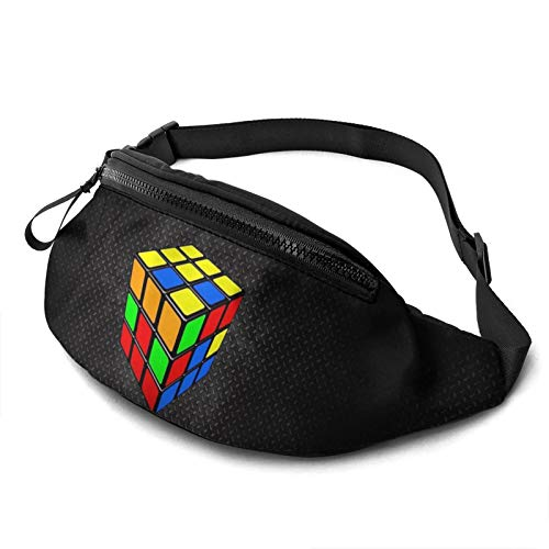 Gkf Waist Pack Bag for Men&Women, Color Cube Utility Hip Pack Bag with Adjustable Strap for Workout Traveling Casual Running