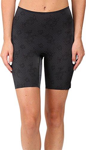 Spanx Pretty Smart Midthigh Short Lace Steel S Calze Modellanti, Grigio 000, 40 (Taglia Produttore: Small) Donna