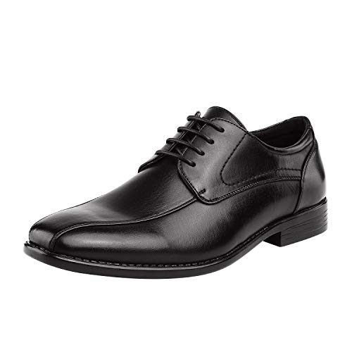 Bruno Marc Men's Dress Shoes Formal Classic Square Toe Lace Up Derbys DP03 Black Size 11 US/ 10 UK