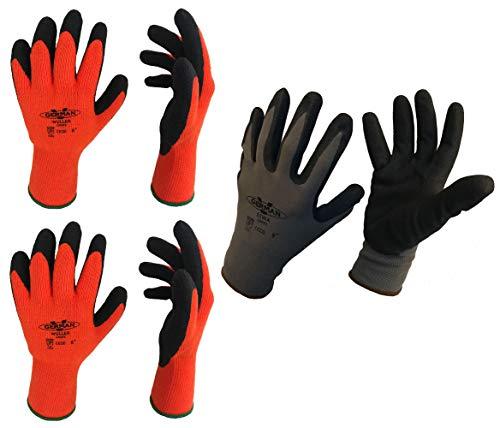 GermanV 3 Paar Holzfäller Handschuhe Arbeitshandschuh Waldarbeiter Set Sicheres Greifen Warme Hände (8 (M))