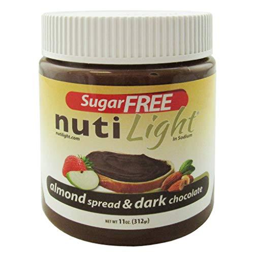 Nutilight Sugar-Free Keto-friendly Almond Spread and Dark Chocolate 11 Ounces (Pack of 1)