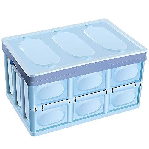 Preisvergleich Produktbild Haushalts-Speicher-Box,  Multifunktionsaufbewahrungsbehälter,  Faltbare wasserdichte Aufbewahrungsbehälter,  Auto-Kofferraum Box,  Tresor,  ungiftige LiMinHua (Color : Blue)