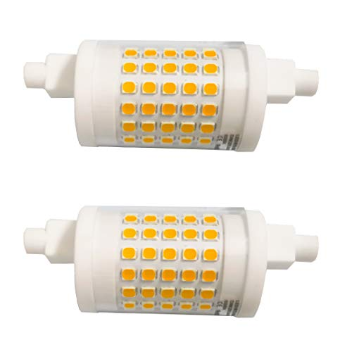 Akaiyal 10W R7s LED Birne 78MM Dimmbar Warmweiß 3000K AC220-240V Doppel Brenner-Enden J78 Lampe 360 Grad Keramik Leuchtmittel 2-Stück MEHRWEG