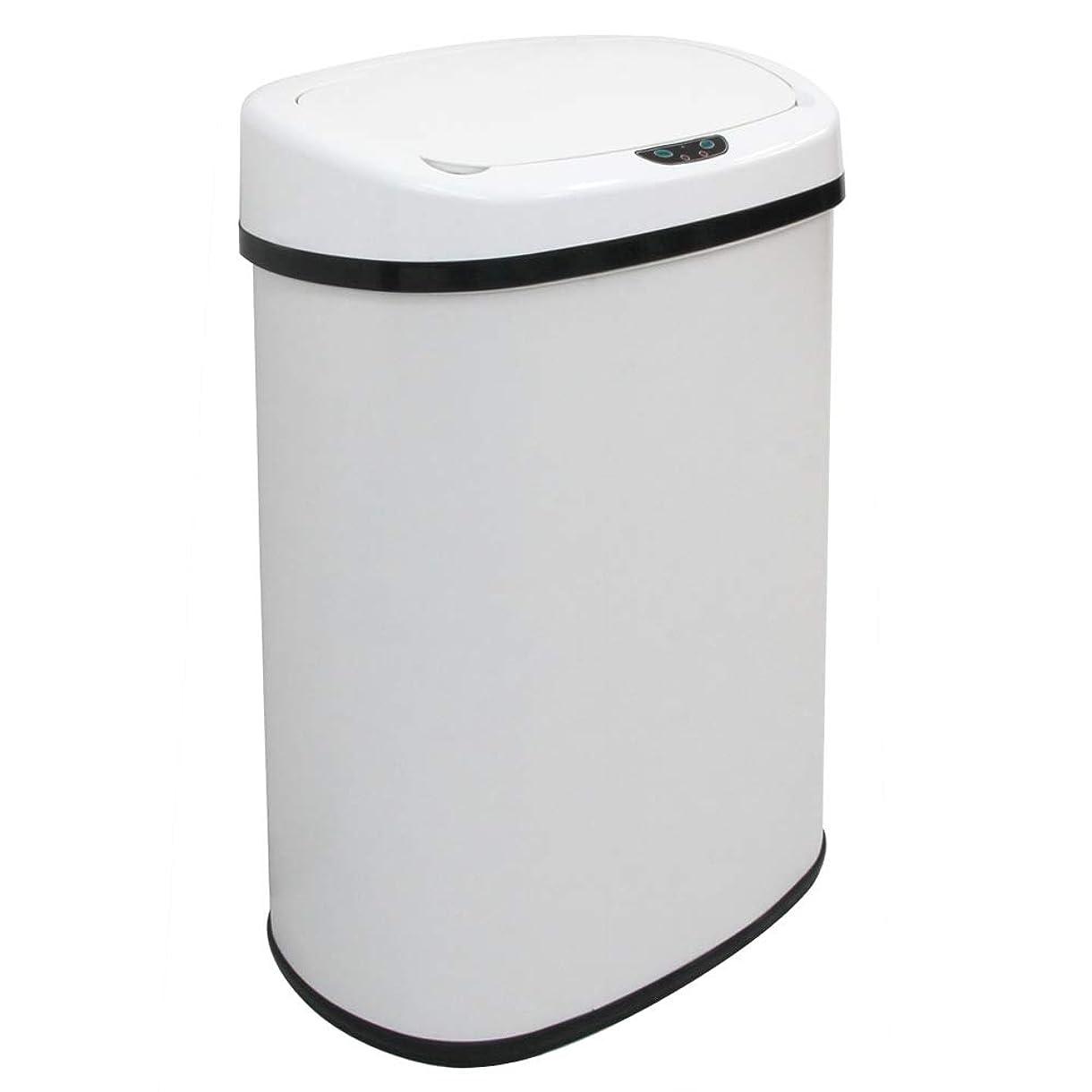 子落ち込んでいる強大なWEIMALL 大容量 ゴミ箱 ダストボックス センサー 自動開閉式 48L ふた付き ペダルいらず全自動開閉 45リットル ゴミ袋 対応 ホワイト 白