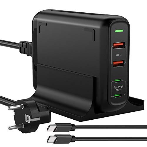 Ameriguy Ladegerat USB C 150 W Ladegerat 100 W Wandmontage 2 USB Ports C 225 W 2 USB Ports A Power Delivery 30 QC 30 fur iPhone 121111 Pro 11 Pro Max MacBookiPad Pro Airpods Pro