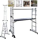 NAIZY - Estructura de aluminio, andamio, escalera de trabajo, escalera plegable, plataform...