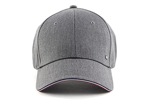Tommy Hilfiger Herren Elevated Corporate Cap Verschluss, Light Grey Heather Melange, One Size