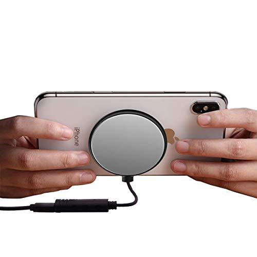 Giosio - Cargador inalámbrico para Videojuegos (10 W, Ultrafino, Compatible con iPhone X/XS/XR/XS Max/8/8 Plus, Galaxy S10, S9, S8, Note 9/8, S7, S7 Edge y Cualquier Dispositivo Compatible con Qi)